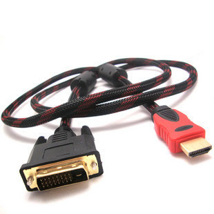 DVI24+1转HDMI线 高清数字HDMI转DVI接口 DVI公转HDMI公